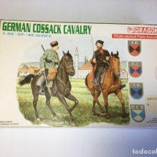 Hobbys: MAQUETA CABALLERIA COSACOS ALEMANES - GERMAN COSSACK CAVALRY DE DRAGON 1:35. Lote 182564808