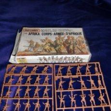 Hobbys: MATCHBOX : ANTIGUA CAJA DE SOLDADITOS ALEMANES AFRIKA KORPS ESCALA 1/76. Lote 183255530