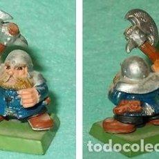 Hobbys: LOTE FIGURA ANTIGUA GAMES WORKSHOP DE 1995 - TIPO WARHAMMER / SEÑOR DE LOS ANILLOS - GUERRERO ENANO. Lote 185998038