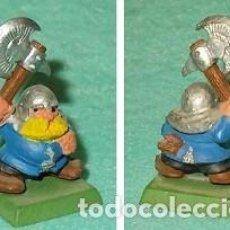 Hobbys: LOTE FIGURA ANTIGUA GAMES WORKSHOP DE 1995 - TIPO WARHAMMER / SEÑOR DE LOS ANILLOS - GUERRERO ENANO. Lote 185998697