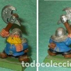 Hobbys: LOTE FIGURA ANTIGUA GAMES WORKSHOP DE 1995 - TIPO WARHAMMER / SEÑOR DE LOS ANILLOS - GUERRERO ENANO. Lote 185999085