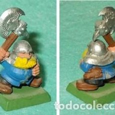 Hobbys: LOTE FIGURA ANTIGUA GAMES WORKSHOP DE 1995 - TIPO WARHAMMER / SEÑOR DE LOS ANILLOS - GUERRERO ENANO. Lote 185999551