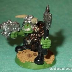 Hobbys: LOTE FIGURA ANTIGUA GAMES WORKSHOP - TIPO WARHAMMER 40000 - JEFE ORCO. Lote 186006795