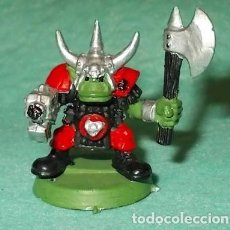 Hobbys: LOTE FIGURA ANTIGUA GAMES WORKSHOP - TIPO WARHAMMER 40000 - GUERRERO ORCO. Lote 186007015
