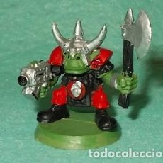 Hobbys: LOTE FIGURA ANTIGUA GAMES WORKSHOP - TIPO WARHAMMER 40000 - GUERRERO ORCO. Lote 186007128