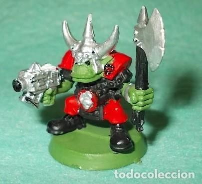 LOTE FIGURA ANTIGUA GAMES WORKSHOP - TIPO WARHAMMER 40000 - GUERRERO ORCO (Juguetes - Modelismo y Radiocontrol - Figuras en miniatura)
