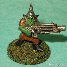 Hobbys: LOTE FIGURA ANTIGUA GAMES WORKSHOP - TIPO WARHAMMER 40000 - GUERRERO GOBLIN. Lote 186007580