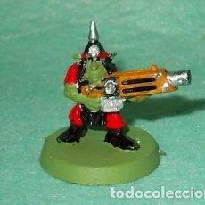 Hobbys: LOTE FIGURA ANTIGUA GAMES WORKSHOP - TIPO WARHAMMER 40000 - GUERRERO GOBLIN. Lote 186007692