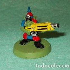 Hobbys: LOTE FIGURA ANTIGUA GAMES WORKSHOP - TIPO WARHAMMER 40000 - GUERRERO GOBLIN. Lote 186008083