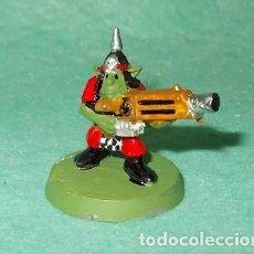 Hobbys: LOTE FIGURA ANTIGUA GAMES WORKSHOP - TIPO WARHAMMER 40000 - GUERRERO GOBLIN. Lote 186008165
