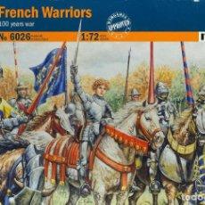 Hobbys: ITALERI 1/72 FRENCH WARRIORS (100 YEARS WAR). Lote 187370376