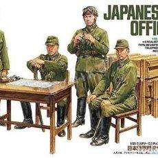 Hobbys: CAJA CON OFICIALES DEL EJÉRCITO JAPONÉS SEGUNDA GUERRA MUNDIAL EN CAMPAÑA DE TAMIYA A 1/35. Lote 191105438