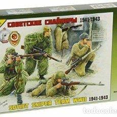 Hobbys: ZVEZDA 1/35 SEALED/PRECINTADO EQUIPO FRANCOTIRADORES SOVIETICOS 1941-1943 IT 3697. Lote 193288996