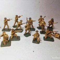 Hobbys: AIRFIX. ESCALA 1/72. 16 SOLDADOS BRITISH INFANTRY NORMANDIA 1944 PINTADOS A MANO. Lote 194282135