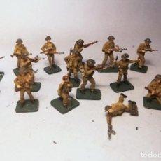 Hobbys: AIRFIX. ESCALA 1/72. 16 SOLDADOS BRITISH INFANTRY NORMANDIA 1944. PINTADOS A MANO.. Lote 194494830