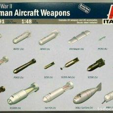 Hobbys: 02691 ITALERI 1/48 GERMAN AIRCRAFT WEAPONS WW II. Lote 195474676