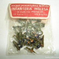 Hobbys: ANTIGUA BOLSA DE SOLDADOS INFANTERIA INGLESA MINIATURAS EKO. Lote 195853708