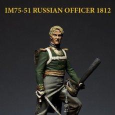 Hobbys: INFANTERÍA RUSA. 1812. OFICIAL. IRBIS MINIATURES. 75 MM. Lote 198418345