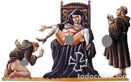 Hobbys: FIGURA ERÓTICA DETALLADA EN PLOMO/ESTAÑO: REPRODUCCIÓN DE CARICATURA ANTICLERICAL S. XIX. -INN - Foto 2 - 205877187