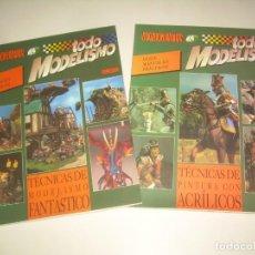 Hobbys: 2 MONOGRAFÍAS TODO MODELISMO, MANUALES PRÁCTICOS, FANTÁSTICO Y ACRÍLICOS 1993 1995. MINIATURAS FIGUR. Lote 209926362