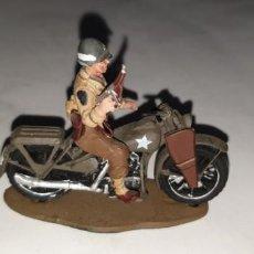 Hobbys: DESCONOCIDO US ARMY MILITARY POLICE 1944 HARLEY WLA FIGURA PLOMO FIGURAS PLOMO. Lote 214968258