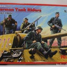 Hobbys: FIGURAS ICM GERMAN TANK RIDERS 1942-45. ESCALA 1/35. Lote 215794977