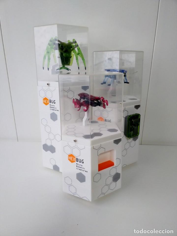 MICRO ROBOTS CRIATURAS HEX BUG , PEQUEÑAS CRIATURAS REBOTICAS EN EXPOSITOR (Juguetes - Modelismo y Radiocontrol - Figuras en miniatura)