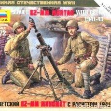 Hobbys: SOVIET 82 MM. MORTAR WITH CREW, 1941-1943 ZVEZDA 1/72.. Lote 231396010