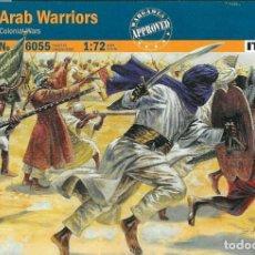 Hobbys: 6055 ITALERI 1/72 SCALE MODEL KIT 19TH COLONIAL WARS ARAB WARRIORS FIGURES. Lote 217534233