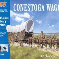 Hobbys: 518 IMEX 1/72 - CONESTOGA WAGON - LLEVA 2 CARRETAS PRECINTADO. Lote 218289327