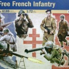 Hobbys: 6189 ITALERI 1/72 WW II FREE FRENCH INFANTRY / INFANTERIA DE LA FRANCIA LIBRE WW II.. Lote 219504001