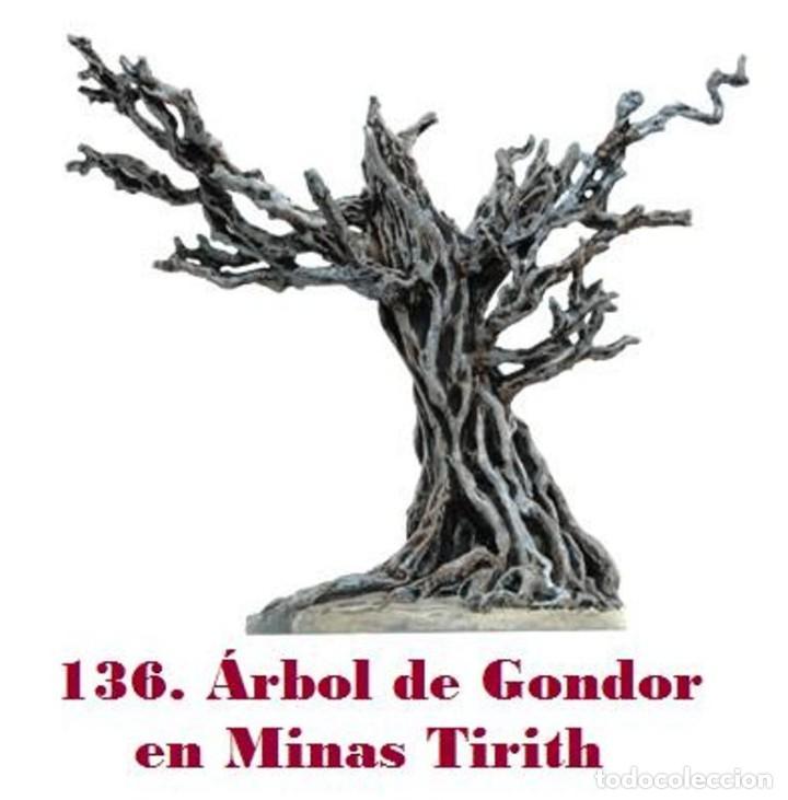 EL SEÑOR DE LOS ANILLOS. FIGURA DE PLOMO Nº 136 ÁRBOL DE GONDOR. SIN CAJA. (Juguetes - Modelismo y Radiocontrol - Figuras en miniatura)