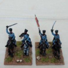 Hobbys: 15MM AB NAPOLEONIC 4 PRUSSIAN DRAGONS COMMANDS PINTADOS EN ALTA CALIDAD. Lote 221116383
