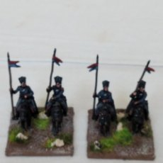 Hobbys: 15MM AB NAPOLEONIC 4 PRUSSIAN UHLAN TROOPERS PINTADOS EN ALTA CALIDAD. Lote 221116573