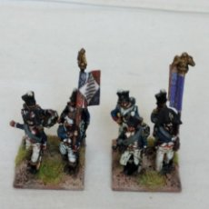 Hobbys: 15MM WARMODELING NAPOLEONIC 2 FRENCH INFANTRY COMMAND BASES GOOD PAINTED. Lote 221117116