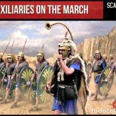 Hobbys: CAJA CON TROPAS AUXILIARES ROMANAS EN MARCHA DE STRELETS A 1/72. Lote 224423850