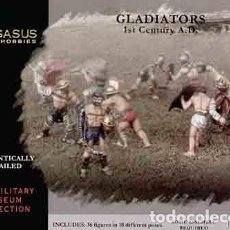 Hobbys: CAJA CON GLADIADORES ROMANOS ÉPOCA ALTOIMPERIAL DE PEGASUS HOBBIES A 1/72. Lote 224424065