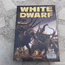 Hobbys: WHITE DWARF Nº 112, EL SEÑOR DE LOS ANILLOS, LOS DESPOJADOS , LA TORMENTA DEL CAOS, INDEX XENOS. Lote 227978245