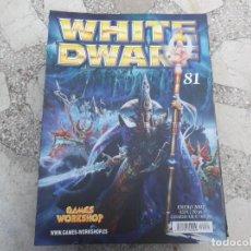 Hobbys: WHITE DWARF Nº 81, ATAQUE A UN MUNDO TAU, COMBATIENDO EL FUEGO CON FUEGO, LOS MANUSCRITOS DE ALTDORF. Lote 227984885