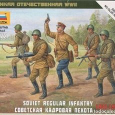 Hobbys: 6179 ZVEZDA 1/72 WW II SOVIET REGULAR INFANTRY 1941-42 SEALED PRECINTADO.. Lote 229207800