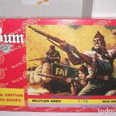 Hobbys: BUM 1/72 MILICIANOS G. CIVIL ESPAÑOLA / MILITIAN ARMY, SPANISH CIVIL WAR IT 5004. Lote 232761710