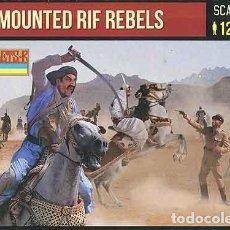 Hobbys: CAJA CON REBELDES RIFEÑOS MONTADOS A CABALLO DE STRELETS A 1/72. Lote 234004675