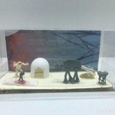Hobbys: PEQUEÑO DIORAMA DE STAR WARS CON LUKE Y EL WAMPA DE FIGURAS MICRO MACHINE DE STAR WARS. Lote 234356455