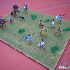 Hobbys: DIORAMA CONQUISTADORES ESPAÑOLES Y AZTECAS.ESCALA 1/72.. Lote 234420905