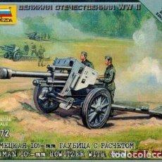 Hobbys: 6121 ZVEZDA 1/72 GERMAN 105MM HOWITZER AND CREW. SEALED, PRECINTADO.. Lote 234765270