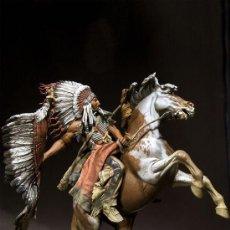 Hobbys: JEFE GUERRERO LAKOTA. PEGASO MODELS. 90 MM. Lote 245651695