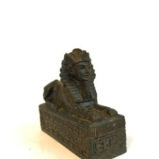 Hobbys: FIGURA DE EGIPTO ESFINGE CUERPO DE LEON 9 CM.. Lote 255601795
