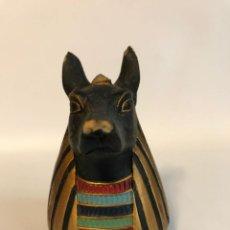 Hobbys: FIGURA DE EGIPTO CABEZA DE ANUBIS 8 CM TAL COMO SE VE. Lote 255607880