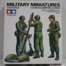 Hobbys: TAMIYA MILITARY MINIATURES U.S. 107MM MORTAR & CREW ESCALA 1/35. Lote 262083870