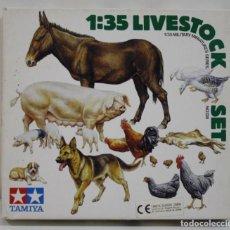 Hobbys: TAMIYA MILITARY MINIATURES LIVESTOCK SET ESCALA 1/35. Lote 262277345